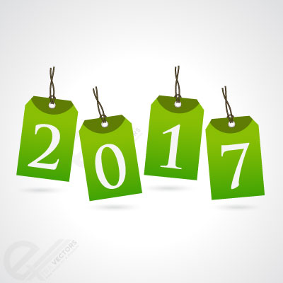 Free 2017 New year vector card background